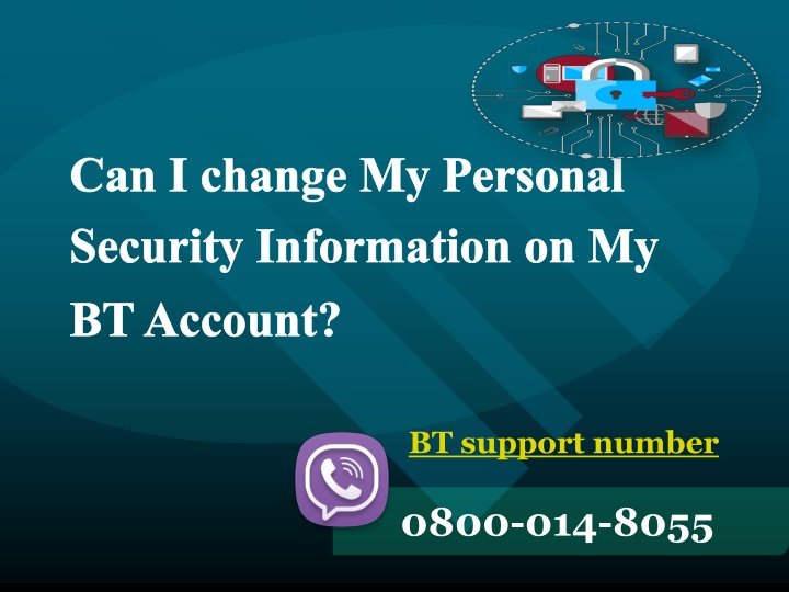 can i change my personal security information n.