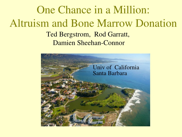 one chance in a million altruism and bone marrow donation n.