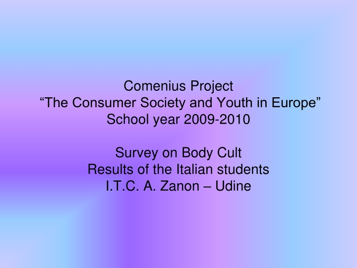 comenius project the consumer society and youth n.