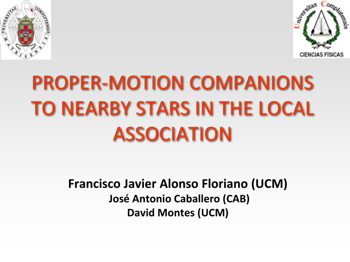 proper motion companions to nearby stars in the local association n.