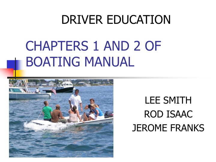 chapters 1 and 2 of boating manual n.