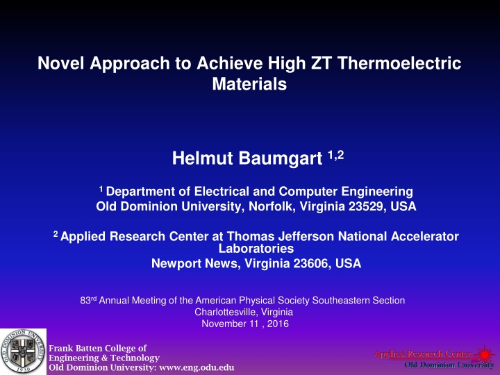 novel approach to achieve high zt thermoelectric materials n.