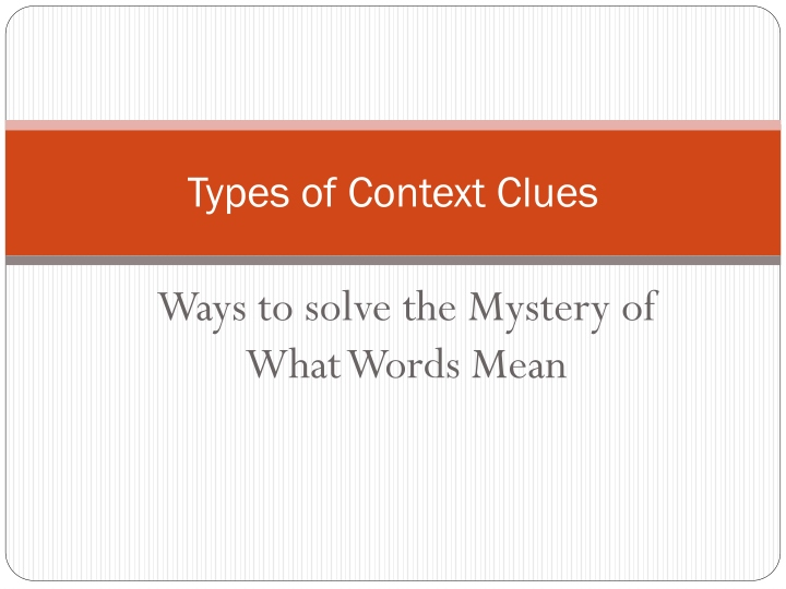 types of context clues n.