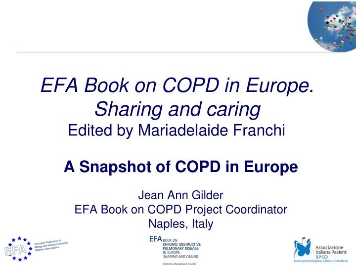 efa book on copd in europe sharing and caring edited by mariadelaide franchi n.