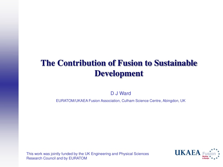the contribution of fusion to sustainable development n.