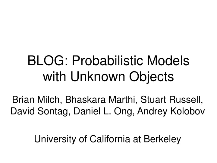 blog probabilistic models with unknown objects n.