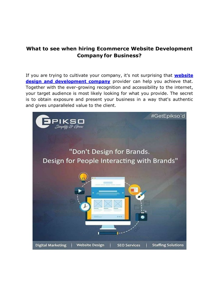 what to see when hiring ecommerce website n.