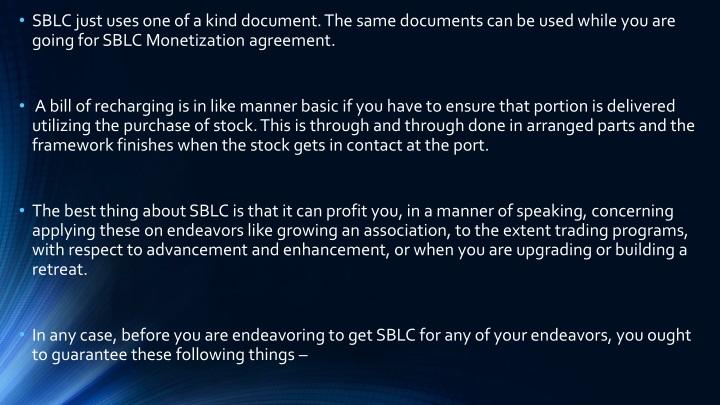 Sblc Buyers