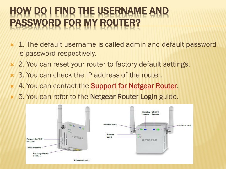 PPT - Password Recovery Guide And How To Reset Your Netgear