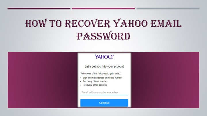 how to recover yahoo email password n.