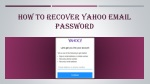 how to recover yahoo email password