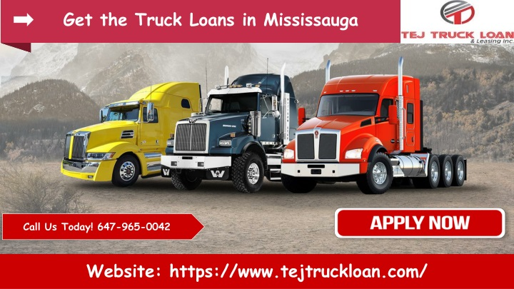 get the truck loans in mississauga n.