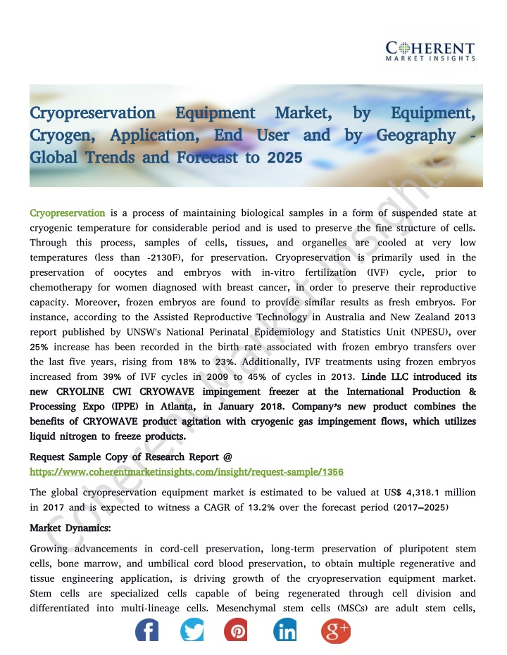 cryopreservation equipment market by equipment n.