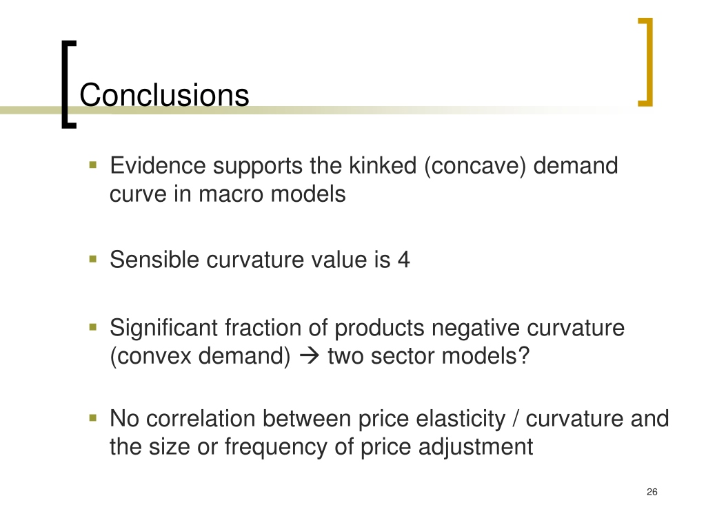 PPT - The Kinked Demand Curve and Price Rigidity: Evidence