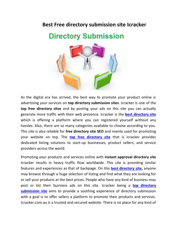 best free directory submission site icracker n.