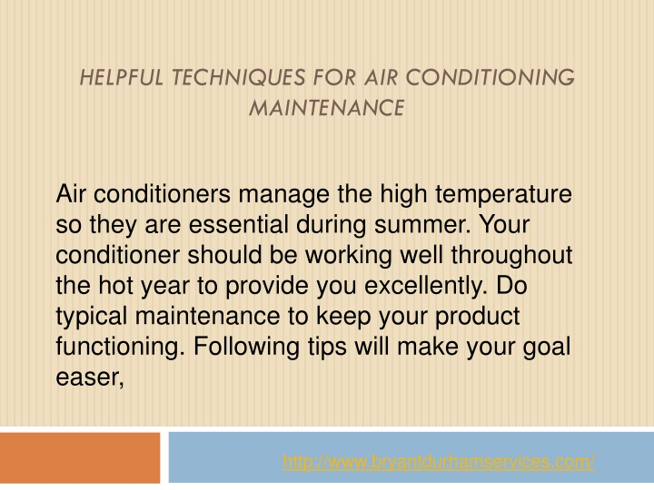 helpful techniques for air conditioning maintenance n.