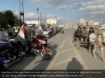 members of the iraq bikers are seen with their
