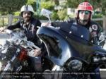 members of the iraq bikers ride their motorbikes