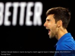 serbia s novak djokovic reacts during his match