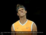 spain s rafael nadal reacts during the match