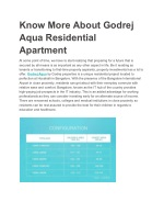 know more about godrej aqua residential apartment