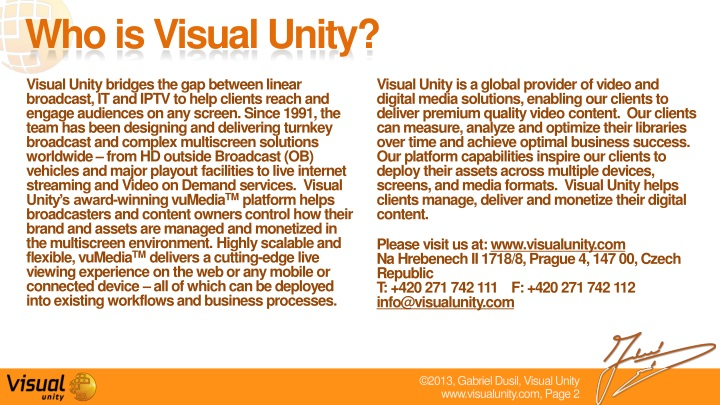 PPT - Visual Unity - Corporate overview (v3 3) PowerPoint