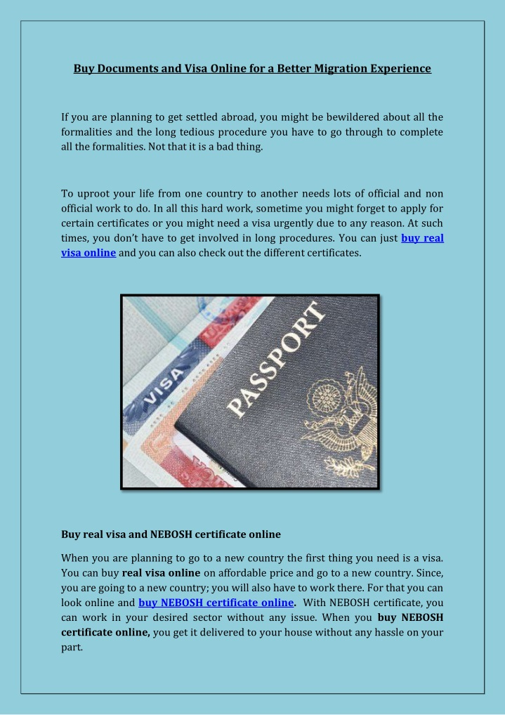 buy documents and visa online for a better n.
