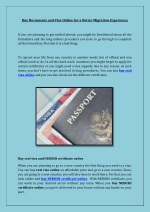 buy documents and visa online for a better