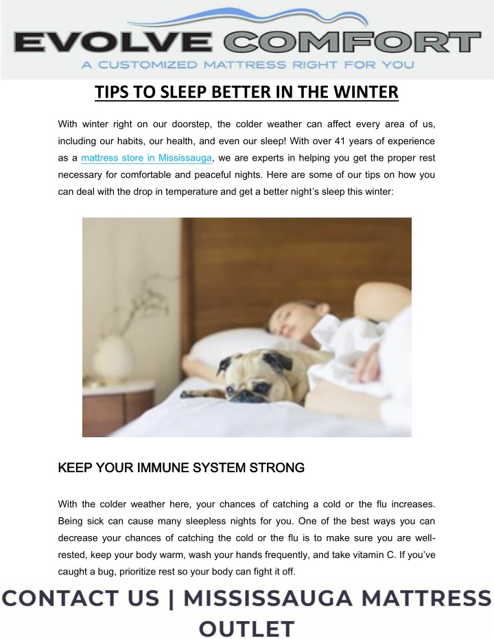 tips to sleep better in the winter n.