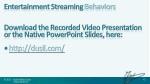 entertainment streaming behaviors download