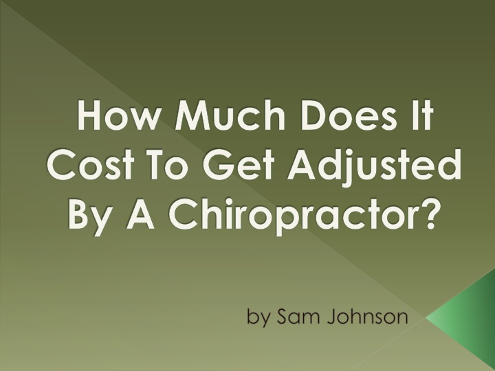 how much does it cost to get adjusted by a chiropractor n.