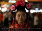 a girl wears traditional chinese clothes during