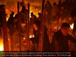 people burn incense sticks and joss papers