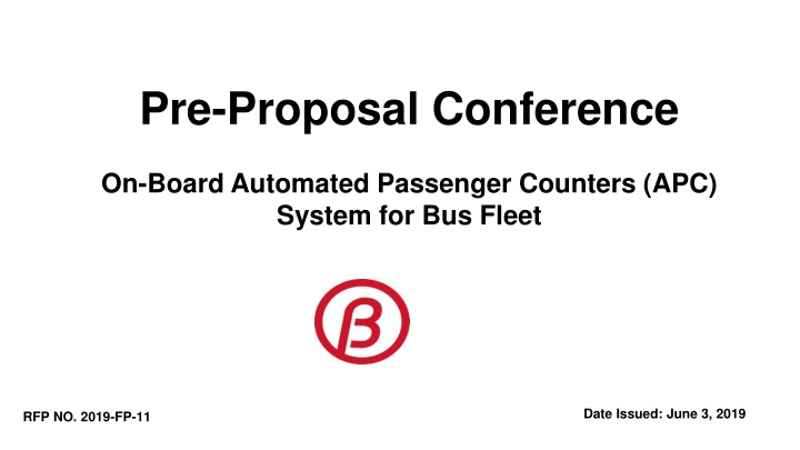 pre proposal conference on board automated n.
