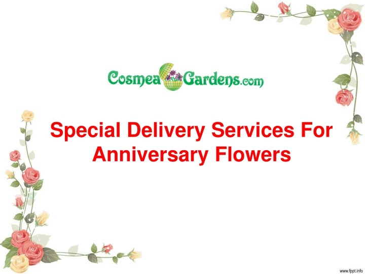 special delivery services for anniversary flowers n.