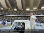 pope francis arrives at zayed sports city stadium