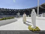 pope francis holds a mass at zayed sports city