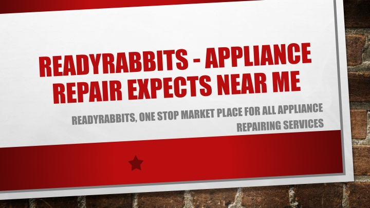 readyrabbits appliance repair expects near me n.