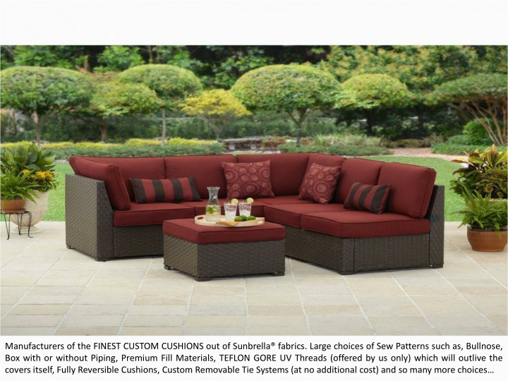 manufacturers of the finest custom cushions n.