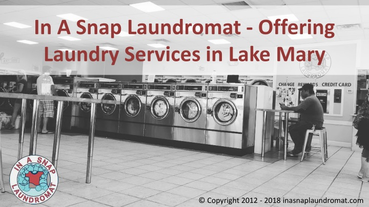 in a snap laundromat offering laundry services in lake mary n.