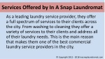 services offered by in a snap laundromat