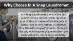 why choose in a snap laundromat