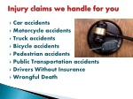 injury claims we handle for you