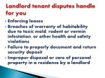 landlord tenant disputes handle for you