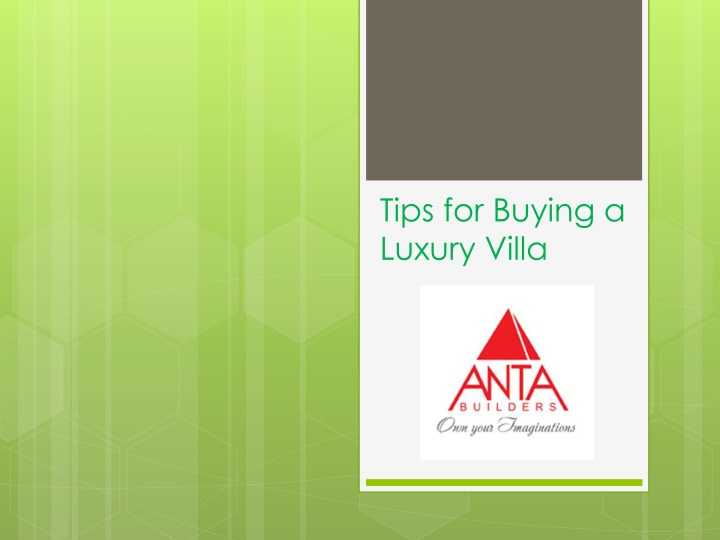 tips for buying a luxury v illa n.