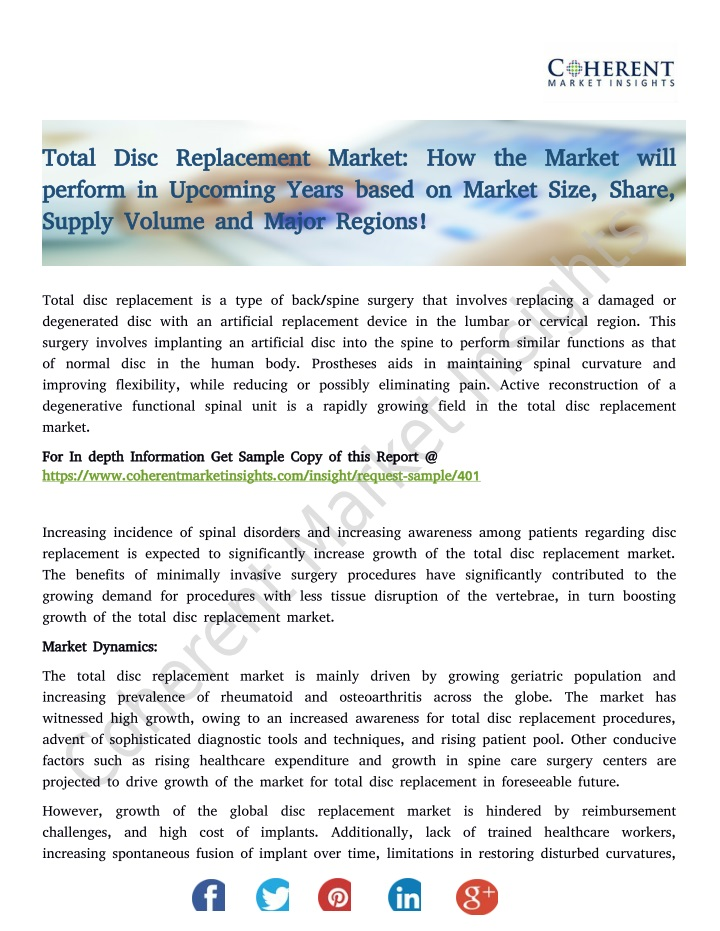 total disc replacement market how the market will n.