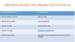 prestige smart city project quick facts