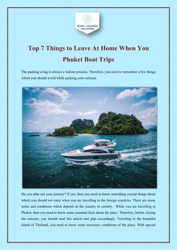 top 7 things to leave at home when you n.