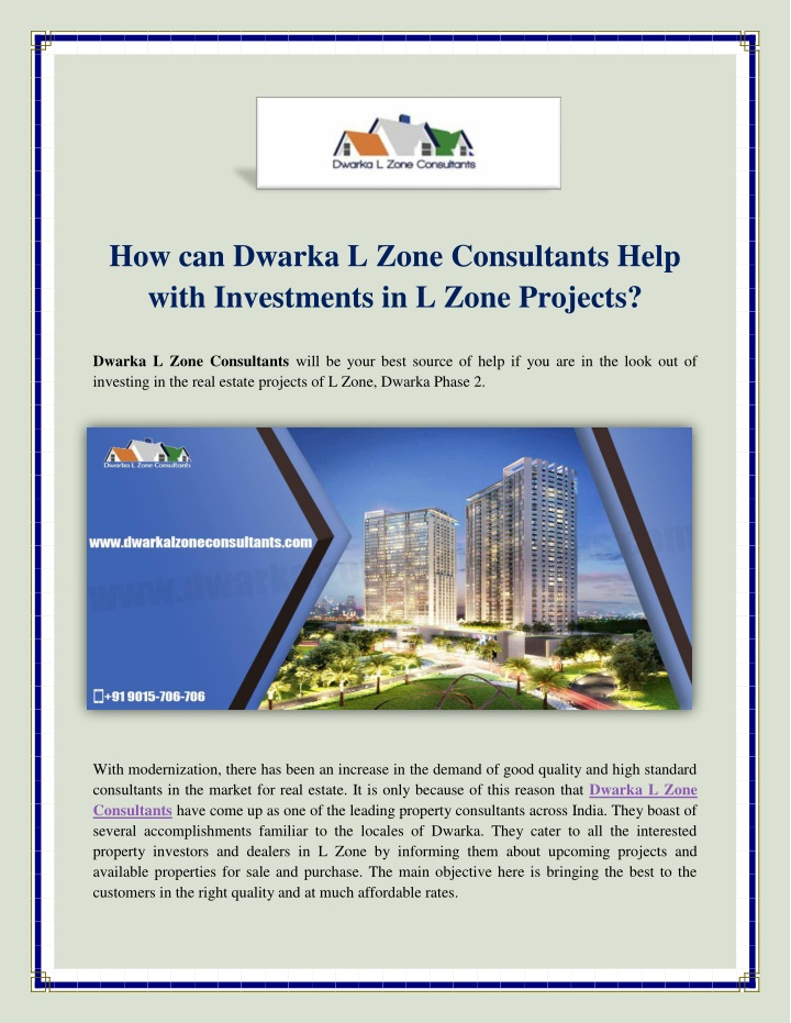how can dwarka l zone consultants help with n.