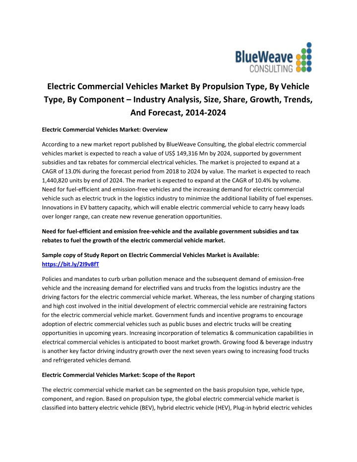 electric commercial vehicles market by propulsion n.